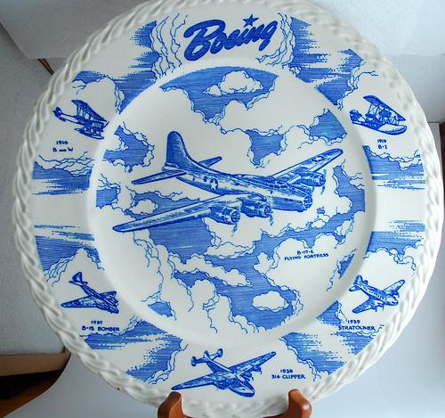 Boeing plate by Vernon Kilns