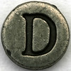 Pewter Letter D