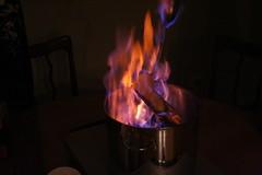 the flames burn brightly
