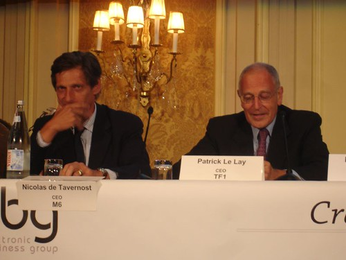 M6 and TF1 CEOs side by side