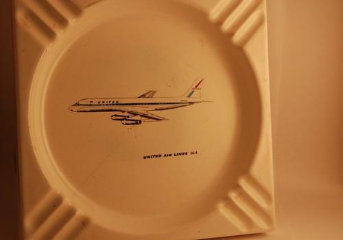 United DC-8 Commemorative Ashtray