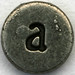 Pewter Letter a