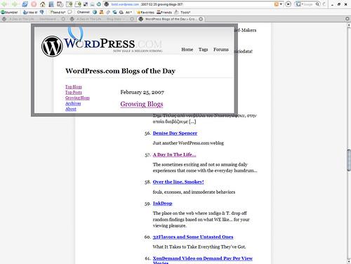 Growing Blogs - Feb 25 2007 (WordPress)