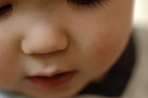 Baby face closeup