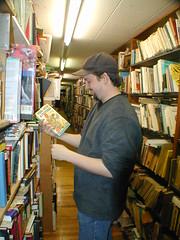 Michael at the Antiquarium Bookstore, 2003