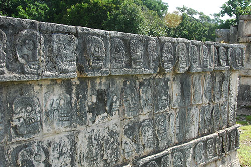 Chichen Itza - 10 - Tzompantli wall of skulls