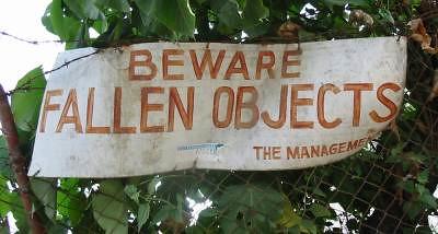 Beware Fallen Objects