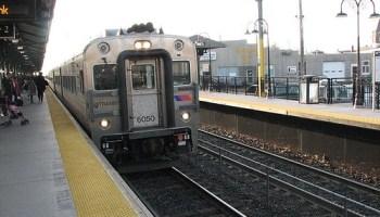 El tren llega a Red Bank
