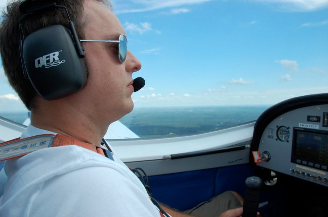 Flying over Illinois in N601CF