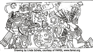 Chichen Itza - 10 - Ball Court Relief Drawing