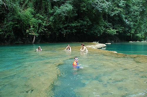 Semuc Champey - 13 Bathing in Semuc
