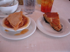 Peach Cobbler vs. Peanut Butter Pie at Mary Mac's Tea Room in Atlanta GA