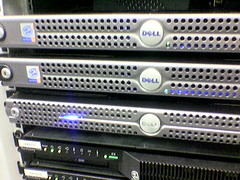 Servers in a rack