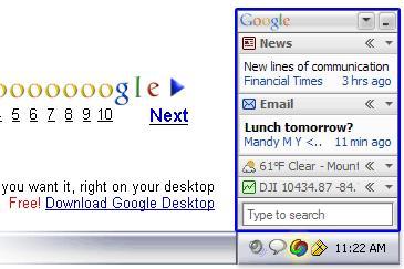 Google ad for Google Desktop