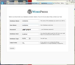 Settings database for WordPress