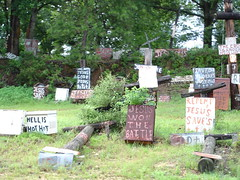 Religious Folk Art - William C. Rice Cross Garden 2 in Prattville AL