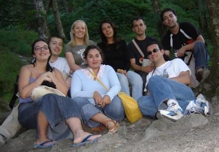 Foto de grupo en la ermita de San Kevin