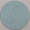 card disc with push out letter y