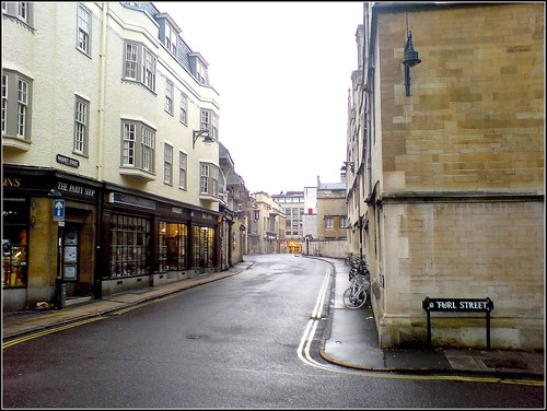 Deserted Oxford at Christmas