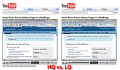 High Quality vs. Low Quality Screencast on YouTube