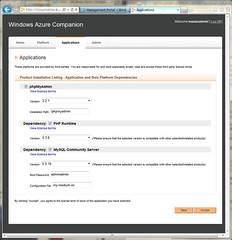Settings for phpMyAdmin on Windows Azure Companion