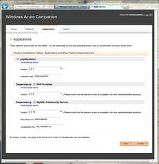 Settings for phpMyAdmin on Windows Azure Companion