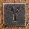 Pewter Uppercase Letter Y