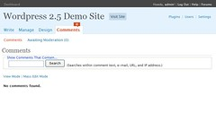 WordPress 2.5 Comment Screen