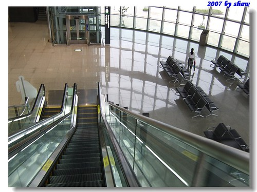 台灣高鐵新竹車站候車室一隅
