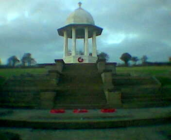 The Chattri with wreaths