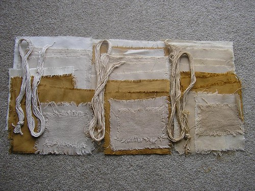 fabric dyed with Tea Bags