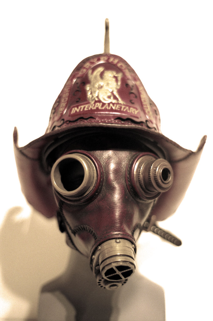 Steampunk mask | Fire master | Sepia