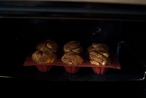 In oven