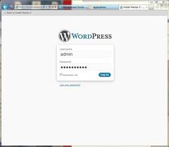 Login to Administration Page on WordPress