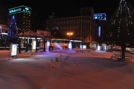 敦賀駅前の松本零士イルミネーション