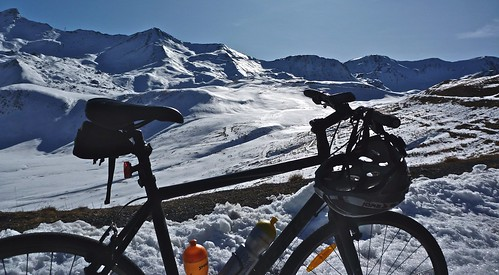 Col du Galibier above