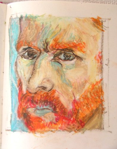 van gogh self portrait pastels