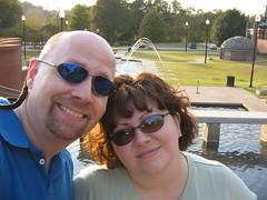 Us posing at the park