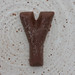 chocolate letter Y