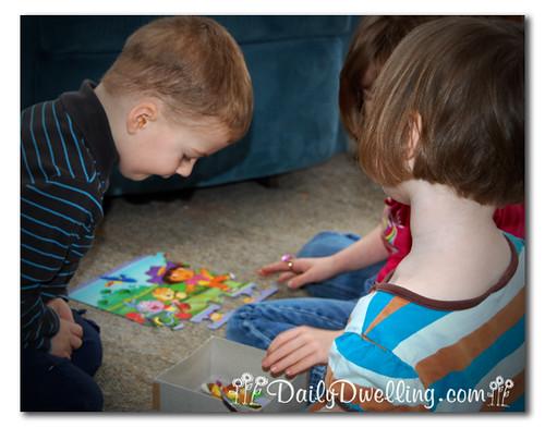 focused on puzzle