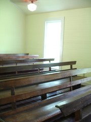 Pews, Old Marbury Methodist Church at Confederate Memorial Park, Marbury AL