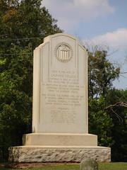 Monument at LaGrange College Site, Leighton AL