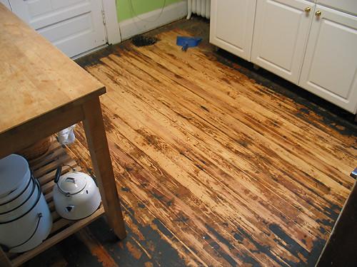 Kitchen Floor, mid-planing