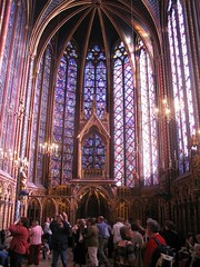 Sainte-Chapelle from the inside.