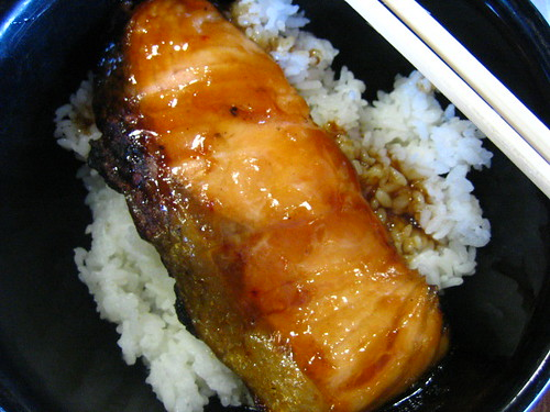 Norwegian salmon at Teriyaki Boy