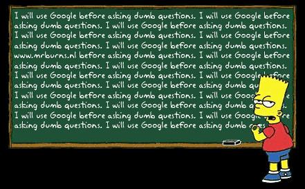 Bart escribiendo que utilizará Google