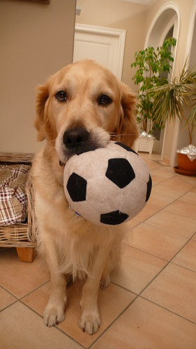Valéas showing his soccer ball