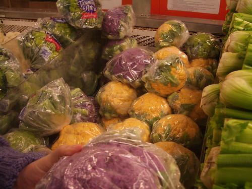 purple and orange cauliflower