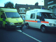 Ambulance and Police Van