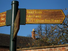 Rufford Sign - Animal Graves
